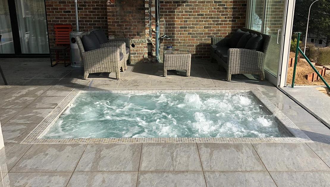 Spa bain à remous encastré pour le particulier
