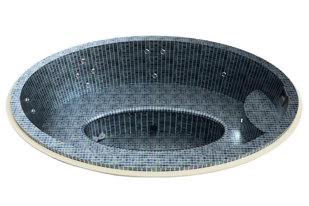 Spa mosaïque ovale à skimmer