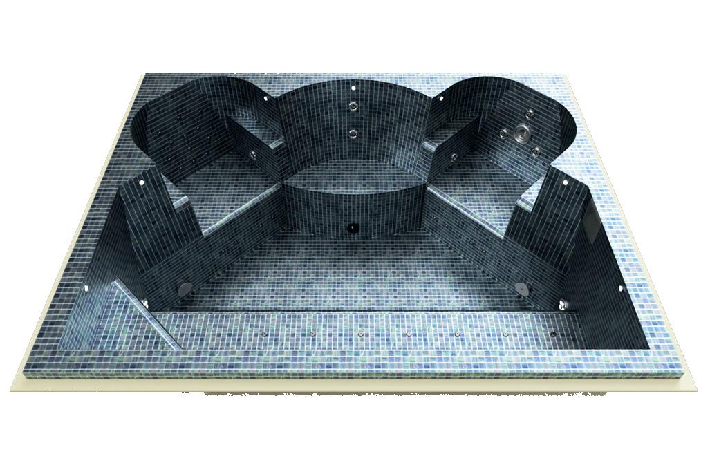 Spa mosaïque sur mesure
