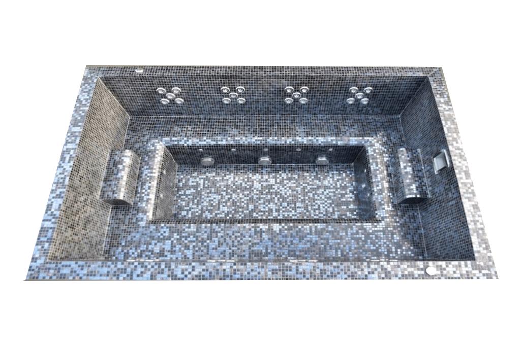 Spa publique professionnel carrelé mosaïque